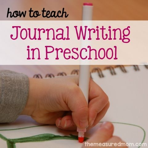 journal writing in preschool fb