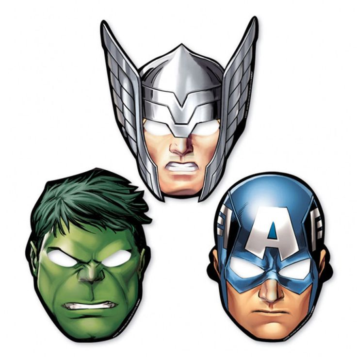 19 Best Marvel The Avengers Super Hero Card Party Face