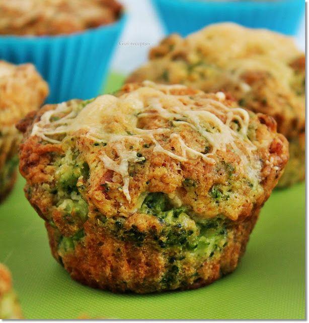 Gizi-receptjei. Várok mindenkit.: Brokkolis-sajtos muffin