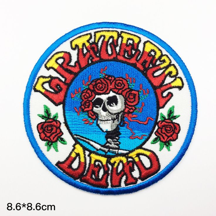 New to craftapplique on Etsy: band patches Grateful Dead Embroidery classic rock patch Embroidered patches term logo iron on letters iron on patch sew on patch(A133) (3.90 USD)