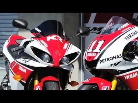 2012 Yamaha YZF-R 1 WGP 50th Anniversary Special Edition view at Laguna Seca GP compilation