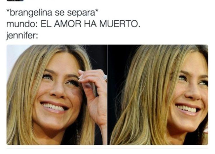 La reacción de Jennifer Aniston por el divorcio de Brad y Jolie ¡En memes!