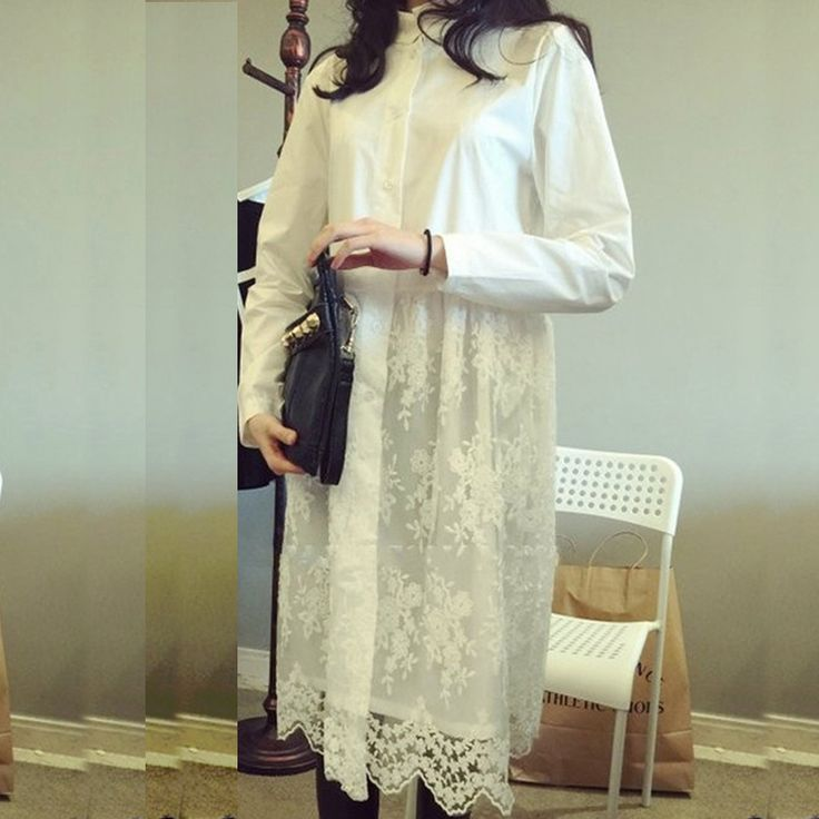 White lace dress 2016 new arrival women summer dress long sleeve cute casual dresses Vestidos roupas femininas free shipping * Want additional info? Click on the image.