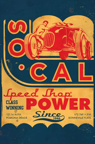 SO-CAL Speed Shop | SO-CAL Coupe Vintage Tin Sign - $24.95