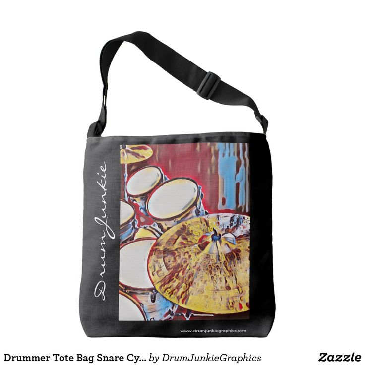 Drummer Tote Bag Snare Cymbal Drum Art Music Purse