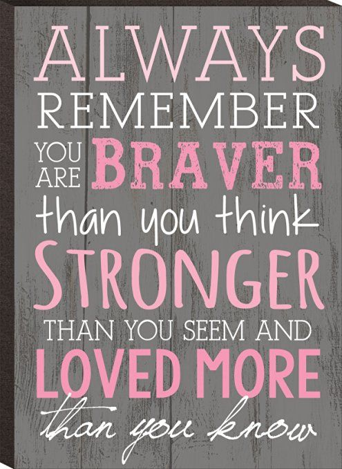 Always Remember You Are Braver Than You Think Stronger