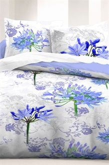 Parure Copripiumone<BR>  Bianco e Blu
