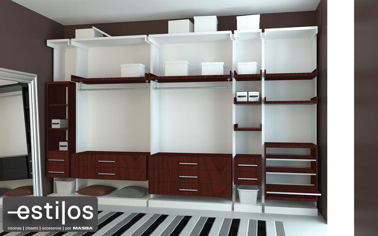 Dise o de closet tipo walk in para un hogar con estilo for Disenos de closet