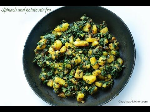 Aloo palak recipe, How to make aloo palak | Saag aloo recipe with video - Rachna's Kitchen