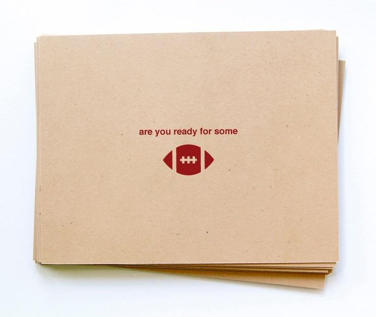 How cute are these invitations?  Perfect for a SuperBowl party.