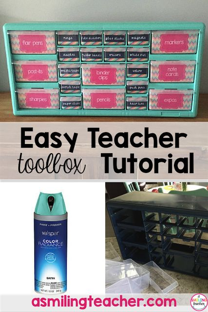 Follow these easy, step by step directions to create a teacher toolbox for your classroom! Classroom organization has never been more simple with this DIY project!