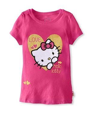 69% OFF Hello Kitty Girl's Graphic Tee (Fuchsia Purple)