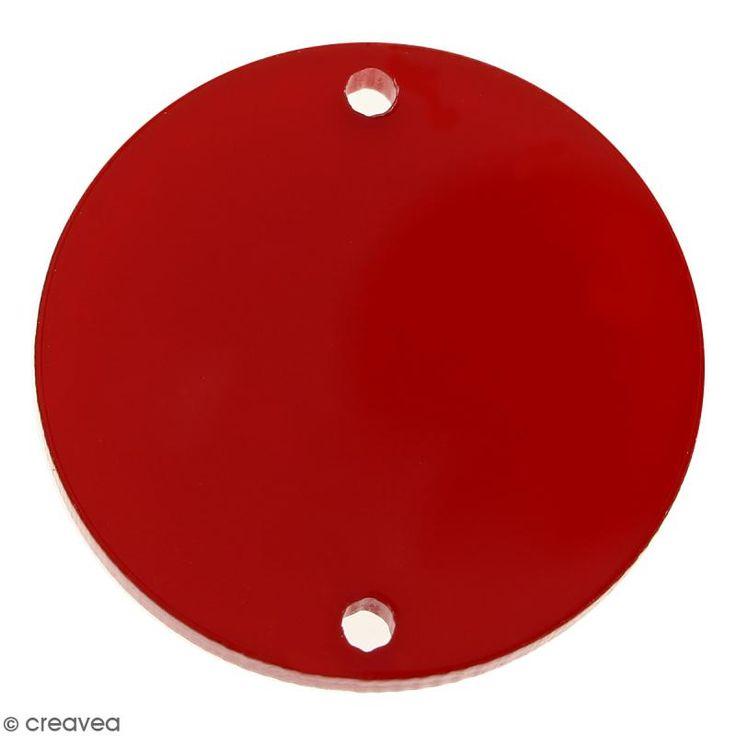 Compra nuestros productos a precios mini Dije intercalado círculo - Rojo - 25 mm - Entrega rápida, gratuita a partir de 89 € !