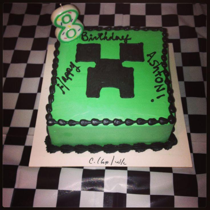 Minecraft Creeper Cake Creeper Pinterest