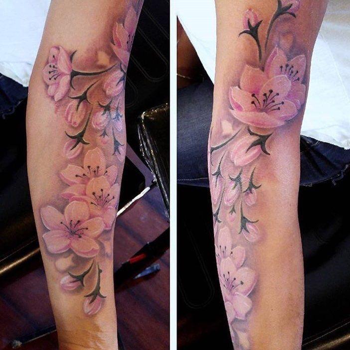 – #cherryblossom – #cherryblossom #kinnlang – Sakura Tattoo