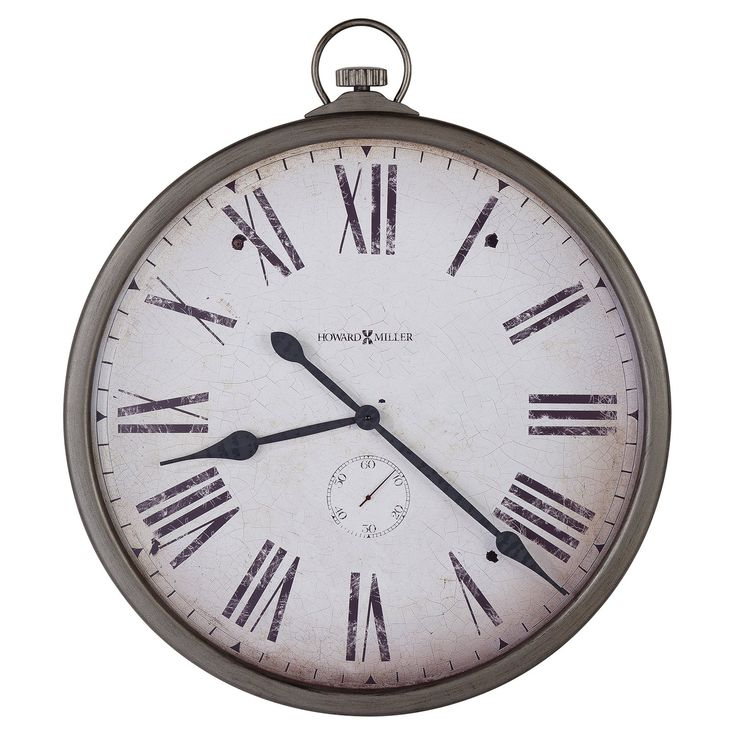 wall clock the grand howard miller gallery pocket watch x in wall clock resembles a classic pocket watch perfect in your urban loft