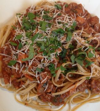 Giada's Simple Bolognese Recipe. Serve with salad, garlic bread and plain pasta for kids, Add antipasto if want to. easy peasy dinner for guests.
