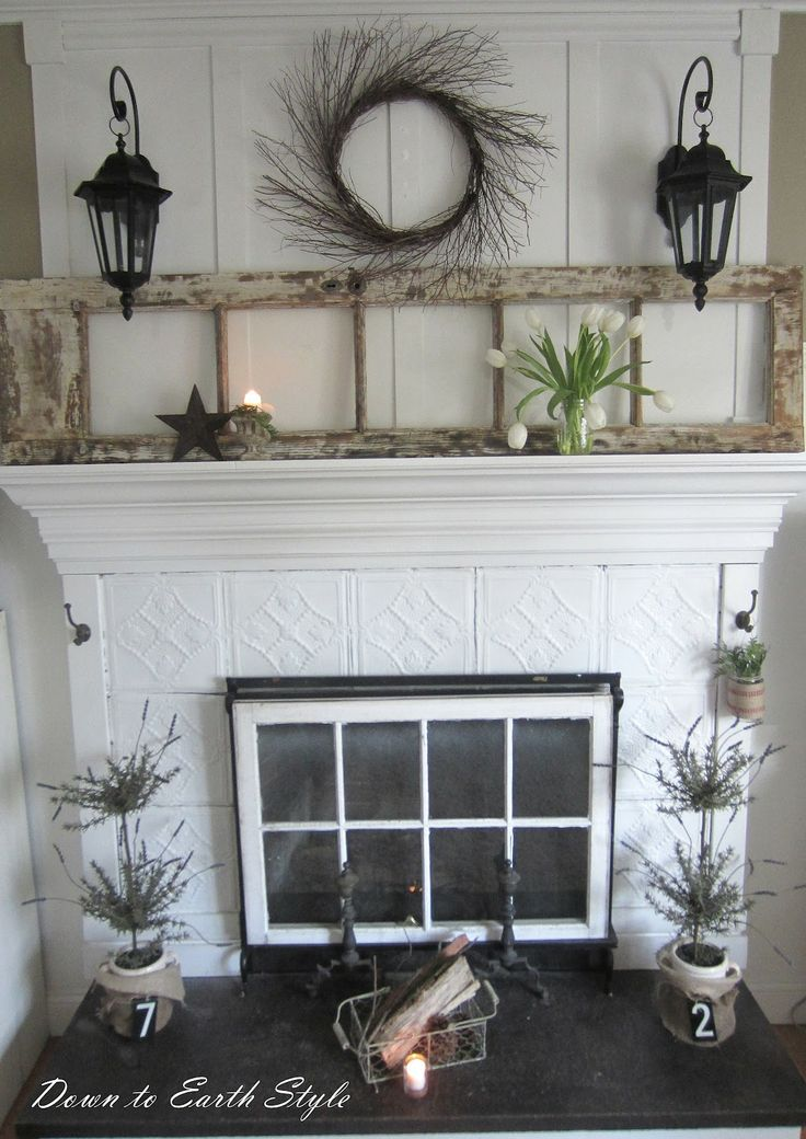 Best 25 tin tiles ideas on pinterest faux tin ceiling - Ideas to cover fireplace opening ...