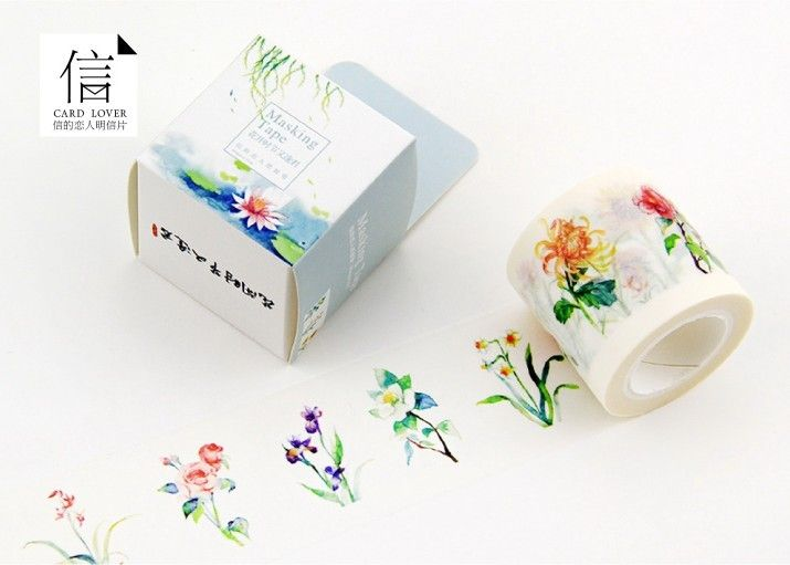 Aliexpress.com : Acquista Trasporto libero 4 cm * 10 m largo bel fiore washi tape/contenitore di imballaggio nastro adesivo fai da te scrapbooking etichetta adesiva nastro adesivo da Fornitori nastro elevatore affidabili su Washi tape world