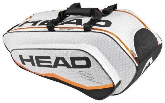 The Head Novak Djokovic Combi Bag 2013  Built for the serious tennis player! Made of high quality, highly durable materials, this bag feels substantial and solid. Fits between 6-8 racquets.  $119.00