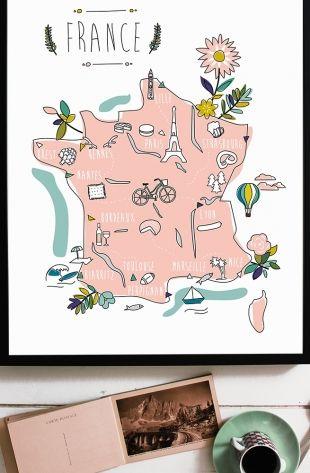 Affiche Promenade en France