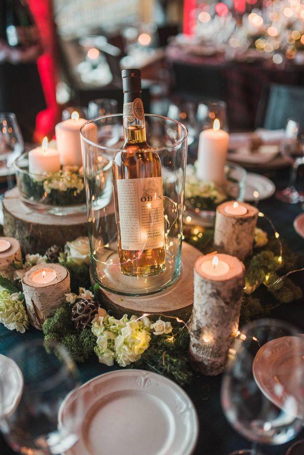 Rustic centerpiece    #wedding #weddingideas #aislesociety #rusticwedding #winterwedding