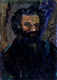 Question mark | András Lázár Gallery 50x70 cm oil painting on canavas