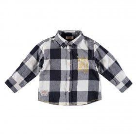 Fekete/fehér kockás hosszú ujjú ing