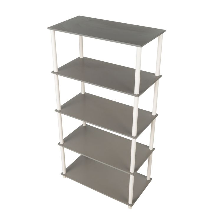 This Home Storage 5 Flat Shelving Unit Vertical Rack System Grey does not require tools to assemble. They work as a storage unit.