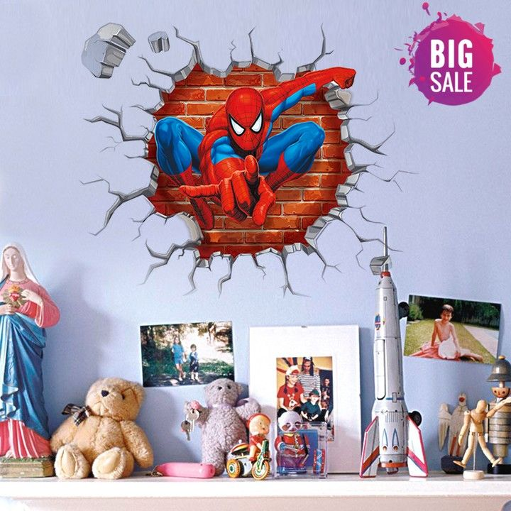 Spider Man Three Dimensional Stickers   Spiderman Wall Decals $ 9.95 And  FREE Shipping Tag A Friend Who Would Love This! Active Link In BIO  #superman ...