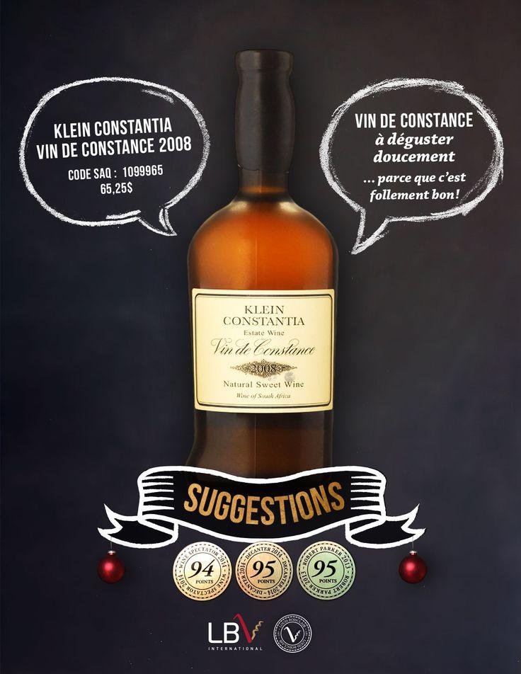 Klein Constantia Vin de Constance 2008 Code SAQ : 10999655 | 65,25$
