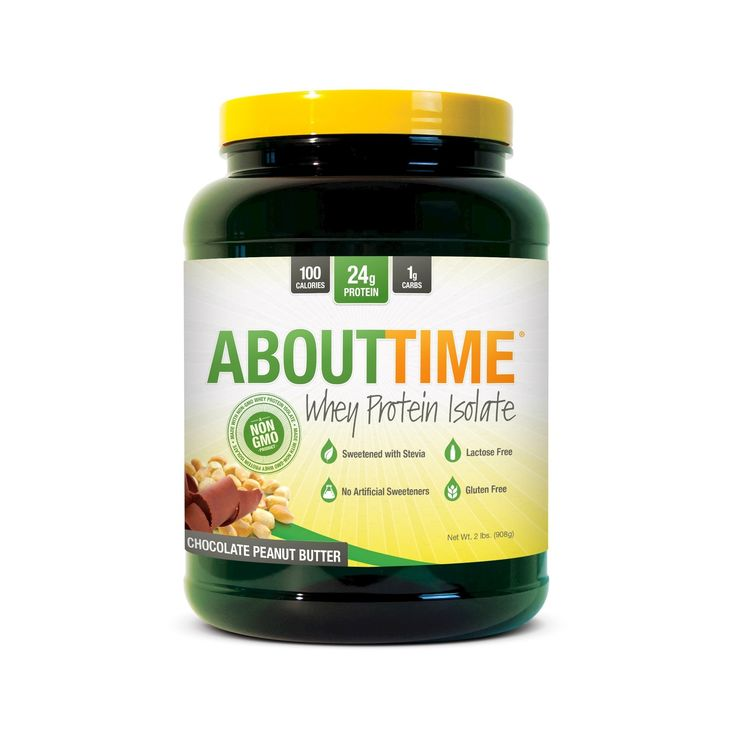 About Time Whey Isolate Protein Powder - Chocolate Peanut Butter - 2lb