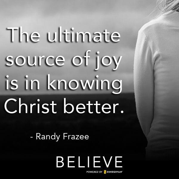 Knowing Christ better gives us incomprehensible joy!