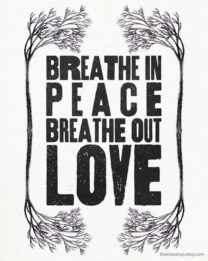 """""""Breathe in Peace"""" Vintage Style Print by theloveshop"""