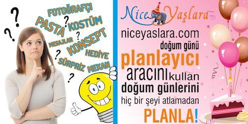"""Siz hiç doğum günü planlama aracı gördünüz mü?  Türkiye'nin doğum günleri için ilk ve tek online planlama aracı: niceyaslara.com """"Planlayıcı""""  niceyaslara.com doğum günü """"Planlayıcı"""" aracını kullan; doğum günlerini hiç bir şeyi atlamadan planla! Planladığınız hediye, pasta, parti malzemesi, mekan gibi her türlü ürün veya hizmet için fiyatlarını ve satıldığı firmaları bul ve kıyasla #doğumgünü #doğumgünükutlaması #doğumgünüplanı #doğumgünüorganizasyonu #doğumgünüpartisi #dogumgunupartisi…"""