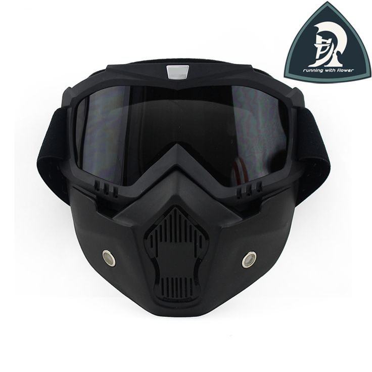 Find More Glasses Information about New Matt Black Beon Motorcycle Face Mask Dust Mask With Detachable Goggles And Mouth Filter For Modular For Open Face Helmet,High Quality mask gas,China mask silicone Suppliers, Cheap mask haloween from running with flower on Aliexpress.com