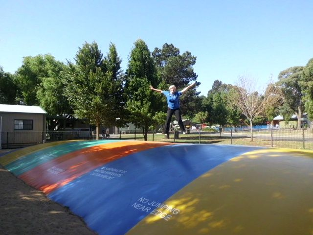 Our jumping pillow is a BIG hit with the kids!