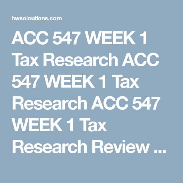ACC 547 WEEK 1 Tax Research ACC 547 WEEK 1 Tax Research ACC 547 WEEK 1 Tax Research Review twosources that discuss the different types of tax authority (specifically primary and secondary sources).  Create a 700- to 1,050-word (at least meet the minimum words) document that addresses the following:  What are the two different categories of tax research (open and closed transactions)? Of the two known sources, primary & secondary, which has more authority ? Explain your answer. Give three…