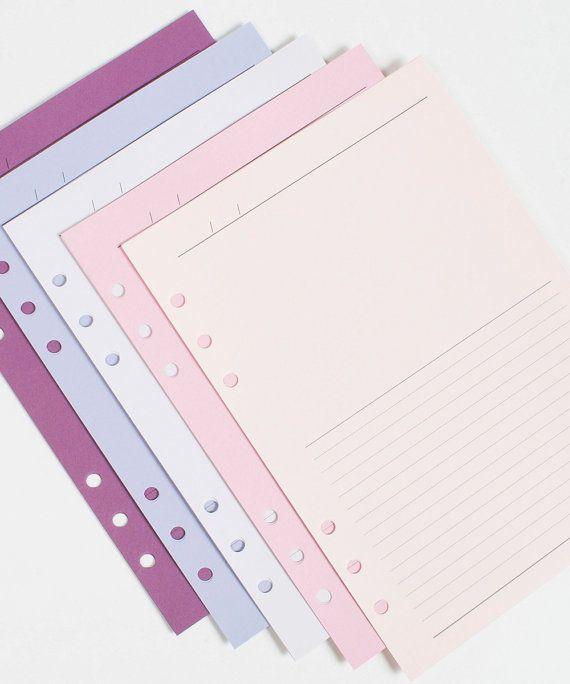 Calendario planificador Idea diario a5 inserta encaja Filofax bolsillo, Personal o A5 planificadores violeta jardín [B008]