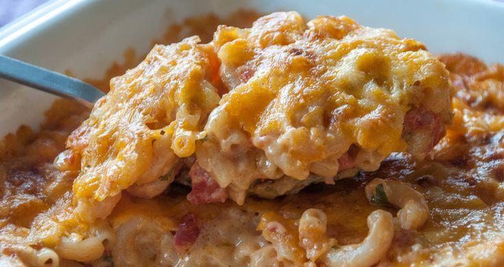 Mac n cheese με ντομάτα