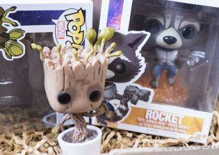 Fangirlalarm: Inhalt der Marvel-Box von Avas Box – Funko Pop Rocket und Groot