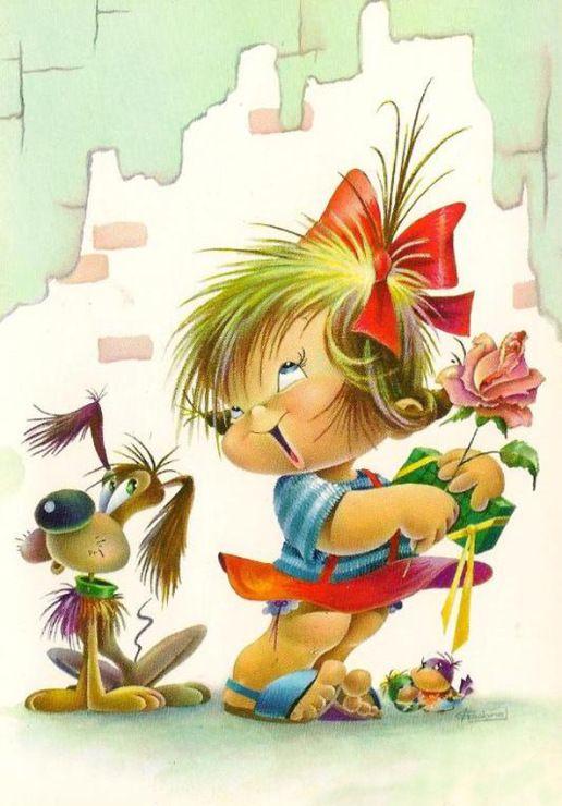 Смешные картинки для детей рисунки, открыткам