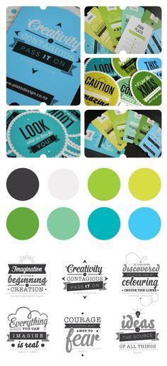 chartreuse color palette | make tagline into creative typography and use it to face various brand ...