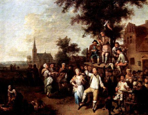 Seekatz, Johann Conrad: Groß-Gerau, Ansicht von Süden beim Kirchweihfest