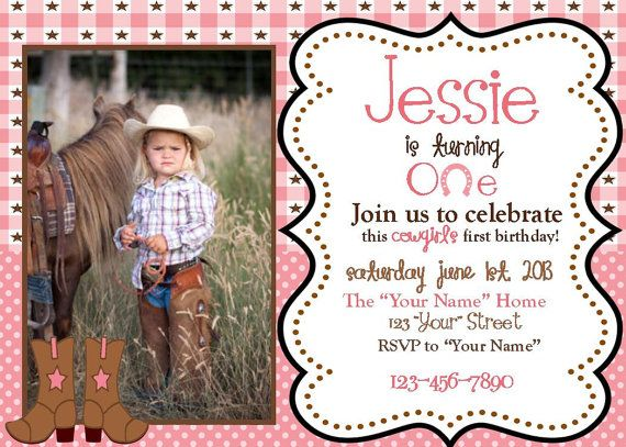 Cowgirl first birthday invitations gallery coloring pages adult 42 best my daughters cowgirl first birthday images on pinterest filmwisefo