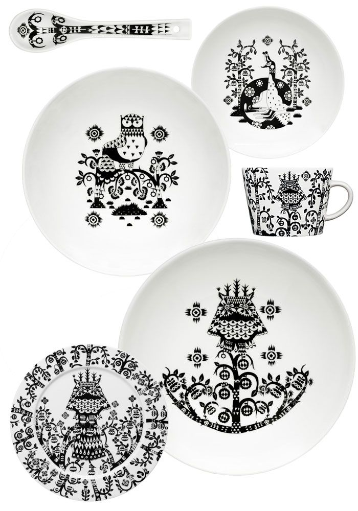 Black and White Tableware by Klaus Haapaniemi , Iittala