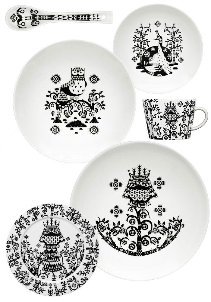 Black and White Tableware by Klaus Haapaniemi , Iittala