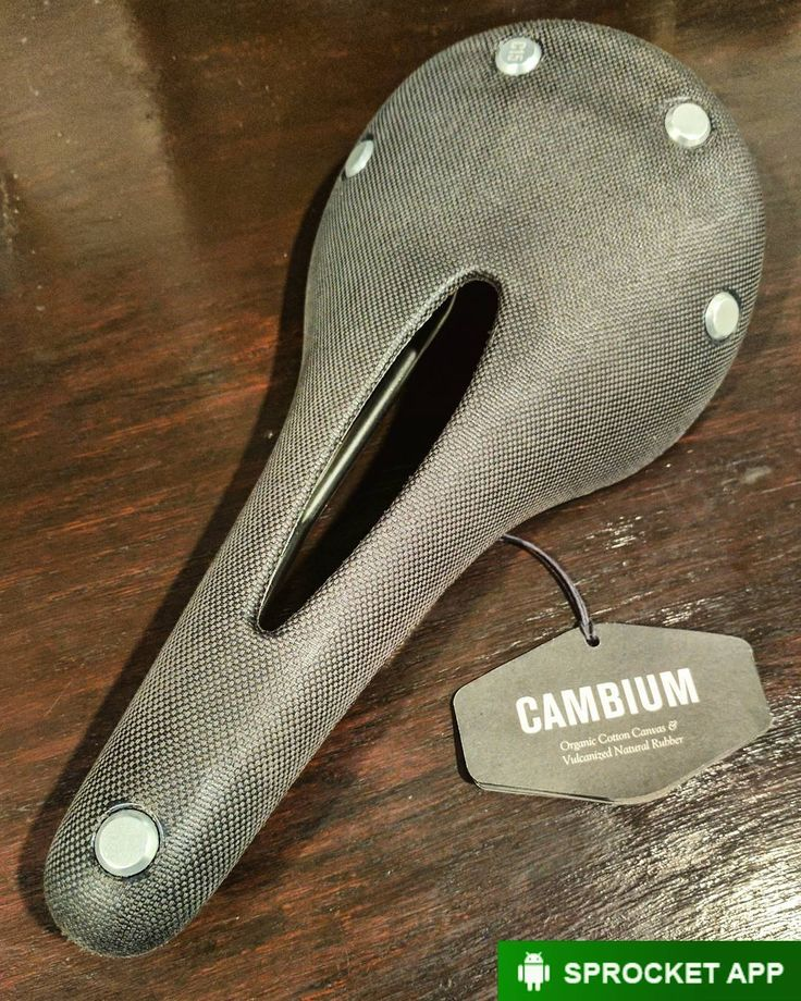 2017 Brooks Cambium C15 vulcanized rubber cotton surface saddle with cutout. This Italian made seat also comes in C13 and C17 model widths.  Get Sprocket the bike info app. Link in bio.  #brooks #broolscambium #cambiumC15 #bikesaddle