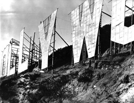 Picture Of Hollywood Sign Unknown Year Taken