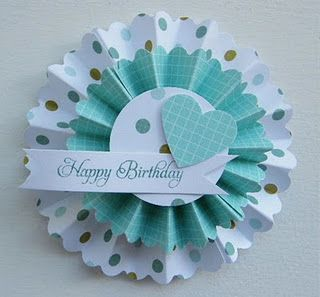 Great tutorial on Kara's blog on how to make these rosettes.